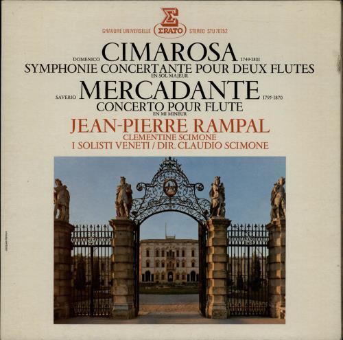 Jean-Pierre Rampal Domenico Cimarosa: Symphonie Concertante Pour Deux Flutes / Saverio Mercadante: Concerto Pour Flute vinyl LP album (LP record) French K6ALPDO764513