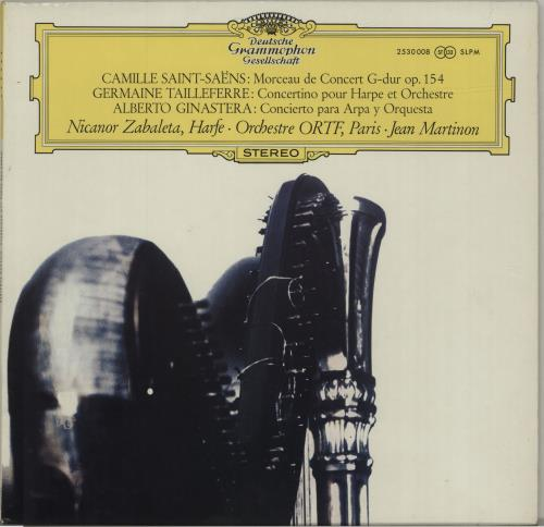 Jean Martinon Morceau De Concert G-dur Op. 154 / Concertino Pour Harpe Et Orchestre / Concierto Para Arpa Y Orques vinyl LP album (LP record) UK K5GLPMO688334