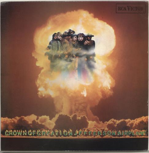 Jefferson Airplane Crown Of Creation - 2nd - EX vinyl LP album (LP record) UK JEFLPCR264152