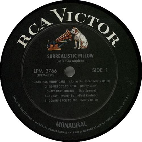Jefferson Airplane Surrealistic Pillow - 1st vinyl LP album (LP record) US JEFLPSU490364