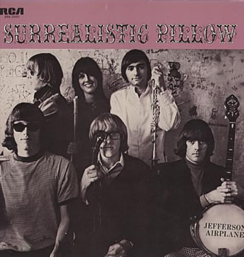 Jefferson Airplane Surrealistic Pillow vinyl LP album (LP record) Japanese JEFLPSU325439