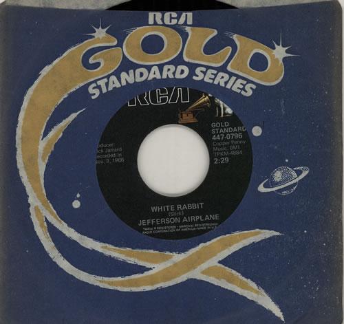 "Jefferson Airplane White Rabbit 7"" vinyl single (7 inch record) US JEF07WH422252"