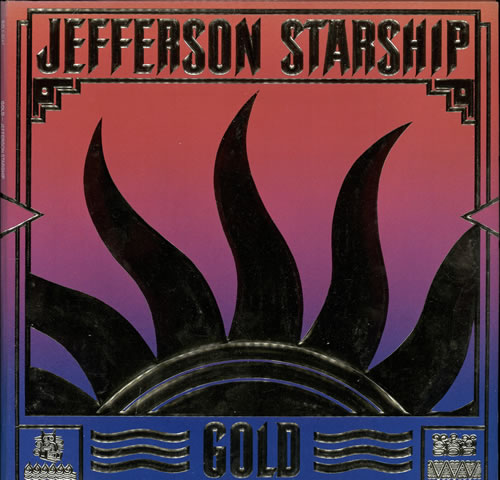 Jefferson Starship Gold vinyl LP album (LP record) UK JFSLPGO569350