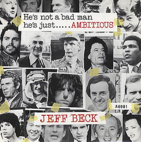 "Jeff Beck Ambitious 7"" vinyl single (7 inch record) UK BEK07AM295021"