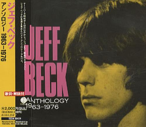 Jeff Beck Anthology 1963-1976 CD album (CDLP) Japanese BEKCDAN323262