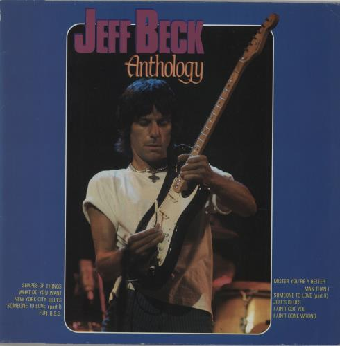 Jeff Beck Anthology vinyl LP album (LP record) Dutch BEKLPAN673933