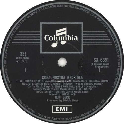 Jeff Beck Beck-Ola - 1st vinyl LP album (LP record) UK BEKLPBE700782