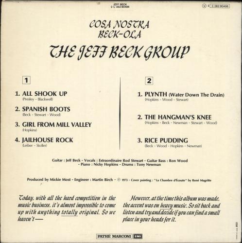 Jeff Beck Beck-Ola - 2nd vinyl LP album (LP record) French BEKLPBE547377