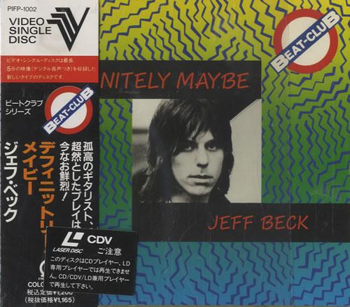 Jeff Beck Definitely Maybe Video CD Japanese BEKVDDE311734