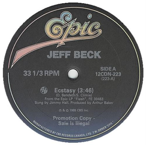 "Jeff Beck Ecstasy 12"" vinyl single (12 inch record / Maxi-single) Canadian BEK12EC96608"