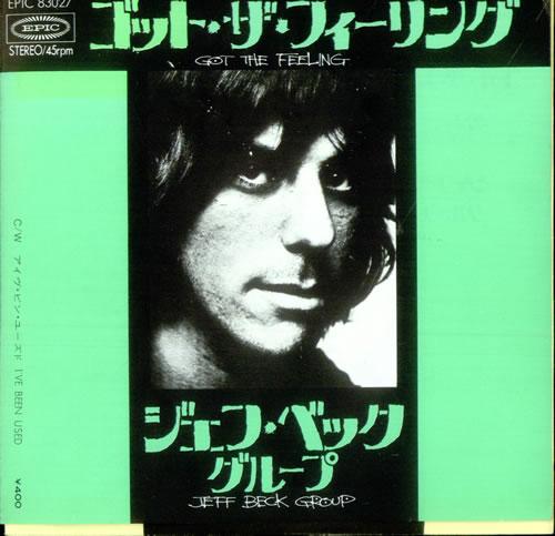 """Jeff Beck Got The Feeling 7"""" vinyl single (7 inch record) Japanese BEK07GO524400"""