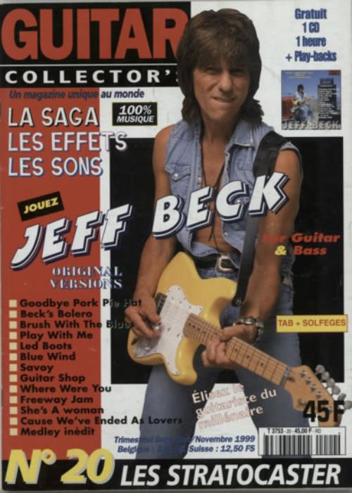 Jeff Beck Guitar Collector's + CD magazine French BEKMAGU601725