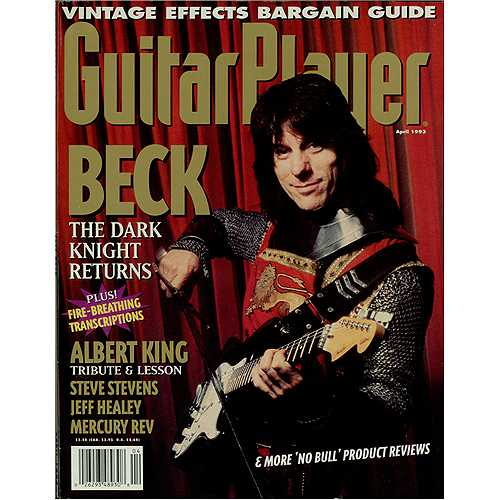 Jeff Beck Guitar Player - April 1993 magazine US BEKMAGU407339