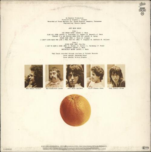 Jeff Beck Jeff Beck Group vinyl LP album (LP record) Dutch BEKLPJE729290
