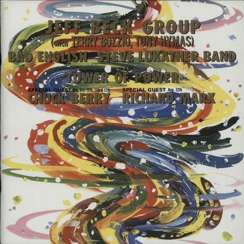 Jeff Beck Kirin Beer's New Gig's 89 Tour tour programme Japanese BEKTRKI138049