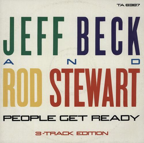 "Jeff Beck People Get Ready 12"" vinyl single (12 inch record / Maxi-single) UK BEK12PE83507"