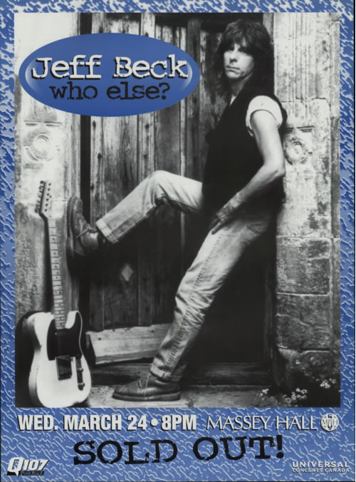 Jeff Beck Who Else? poster Canadian BEKPOWH187869
