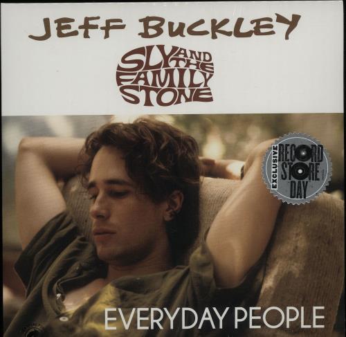 "Jeff Buckley Everyday People 7"" vinyl single (7 inch record) UK JFB07EV644701"