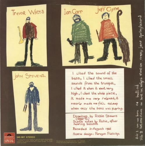 Jeff Clyne & Ian Carr Springboard vinyl LP album (LP record) UK TOJLPSP441710