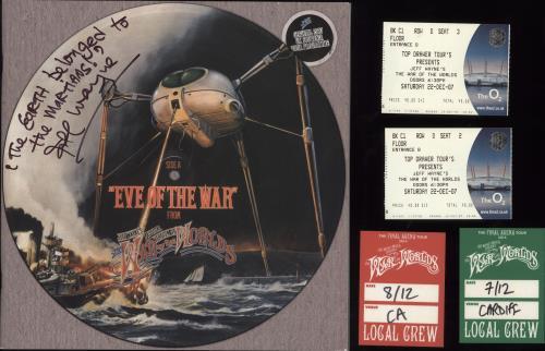 Jeff Wayne The War Of The Worlds - Autographed tour programme UK JFWTRTH714463