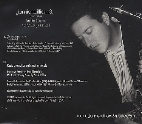 Jennifer Hudson Overjoyed CD-R acetate US HU2CROV398751