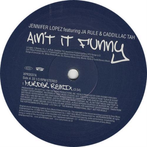 "Jennifer Lopez Ain't It Funny (Murder Remixes) 12"" vinyl single (12 inch record / Maxi-single) UK LPZ12AI209062"