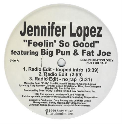"Jennifer Lopez Feelin' So Good 12"" vinyl single (12 inch record / Maxi-single) US LPZ12FE204582"