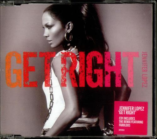 "Jennifer Lopez Get Right - CD1 CD single (CD5 / 5"") UK LPZC5GE537231"