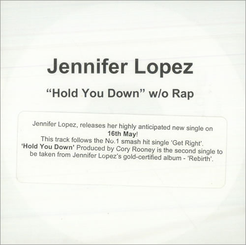 Jennifer Lopez Hold You Down CD-R acetate UK LPZCRHO500776