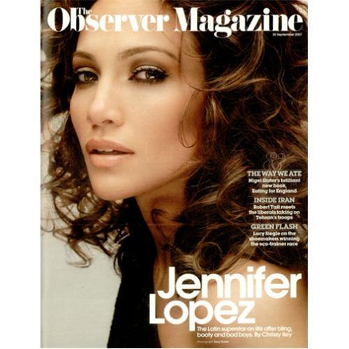 Jennifer Lopez Observer Magazine magazine UK LPZMAOB420544