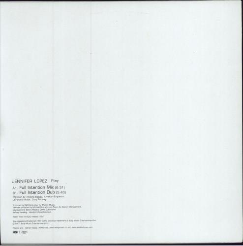 "Jennifer Lopez Play 12"" vinyl single (12 inch record / Maxi-single) UK LPZ12PL183598"