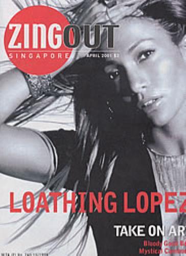Jennifer Lopez Zing Out magazine Singapore LPZMAZI184087