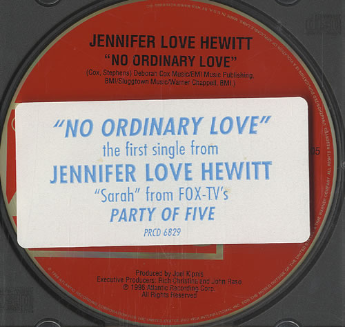 "Jennifer Love Hewitt No Ordinary Love CD single (CD5 / 5"") US JLVC5NO454891"