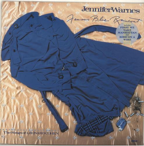 Jennifer Warnes Famous Blue Raincoat - Hype Sticker vinyl LP album (LP record) German JENLPFA694139