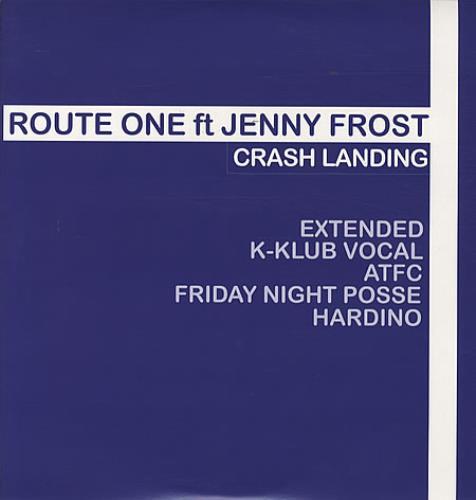 "Jenny Frost Crash Landing 12"" vinyl single (12 inch record / Maxi-single) UK JFT12CR340679"