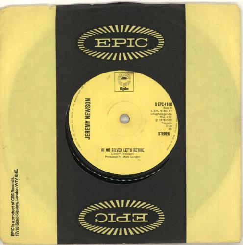 "Jeremy Newson Hi Ho Silver Let's Retire 7"" vinyl single (7 inch record) UK ZEY07HI712955"