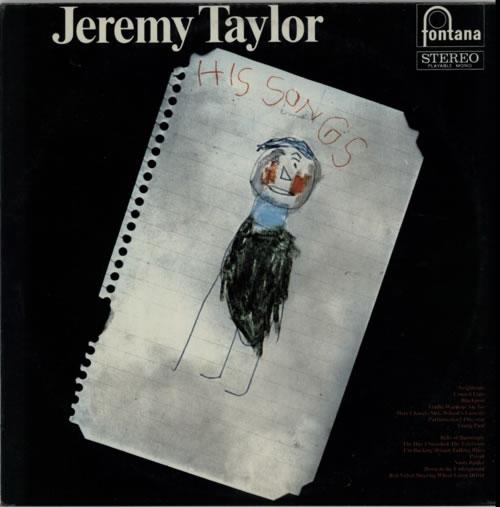 Jeremy Taylor His Songs vinyl LP album (LP record) UK KX4LPHI613616