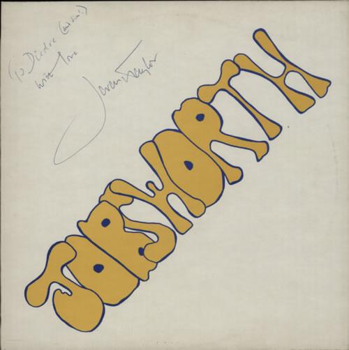 Jeremy Taylor Jobsworth - Autographed vinyl LP album (LP record) UK KX4LPJO602476