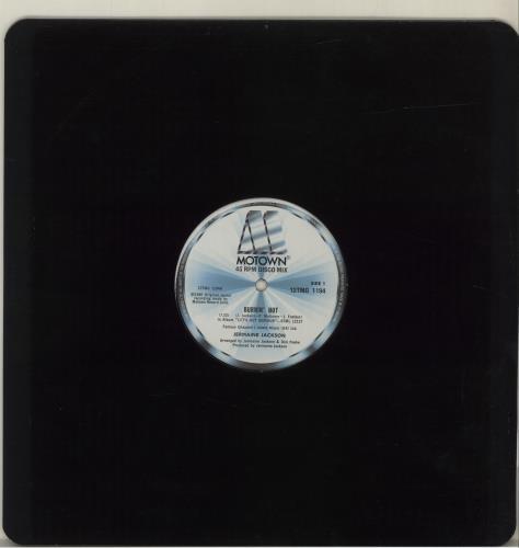 "Jermaine Jackson Burnin' Hot - 45RPM Disco Mix 12"" vinyl single (12 inch record / Maxi-single) UK JJA12BU632856"
