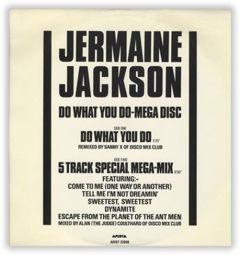 "Jermaine Jackson Do What You Do 12"" vinyl single (12 inch record / Maxi-single) US JJA12DO17701"