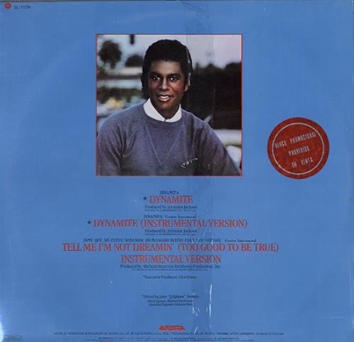 "Jermaine Jackson Dynamite - Promo Stamped - Sealed 12"" vinyl single (12 inch record / Maxi-single) Mexican JJA12DY262147"