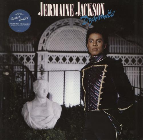 Jermaine Jackson Dynamite - Stickered Sleeve vinyl LP album (LP record) German JJALPDY720304