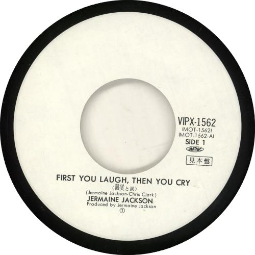 """Jermaine Jackson First You Laugh, Then You Cry 7"""" vinyl single (7 inch record) Japanese JJA07FI729818"""