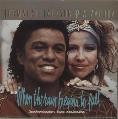 "Jermaine Jackson When The Rain Begins To Fall 7"" vinyl single (7 inch record) UK JJA07WH99054"