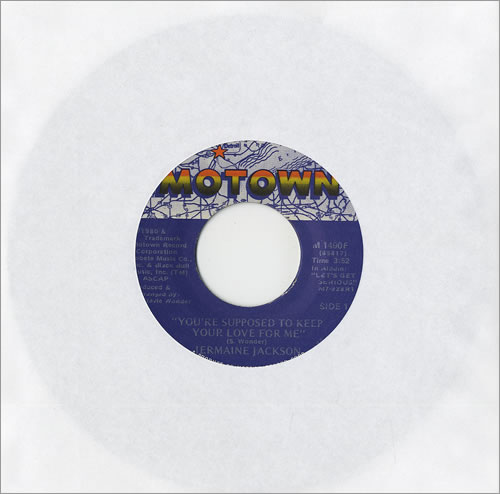 """Jermaine Jackson You're Supposed To Keep Your Love For Me 7"""" vinyl single (7 inch record) US JJA07YO459423"""