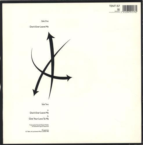 "Jermaine Stewart Don't Ever Leave Me 12"" vinyl single (12 inch record / Maxi-single) UK JMA12DO187646"
