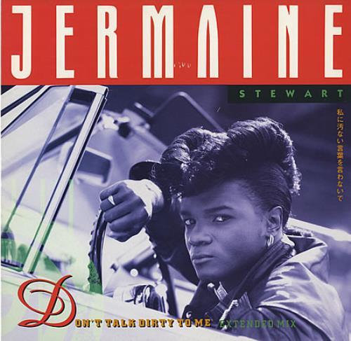 "Jermaine Stewart Don't Talk Dirty To Me 12"" vinyl single (12 inch record / Maxi-single) UK JMA12DO187568"
