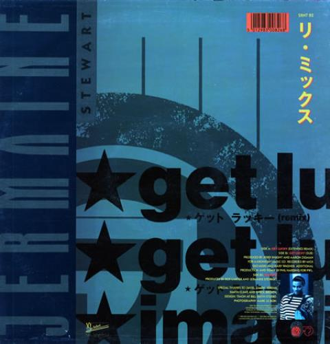 "Jermaine Stewart Get Lucky 12"" vinyl single (12 inch record / Maxi-single) UK JMA12GE187639"