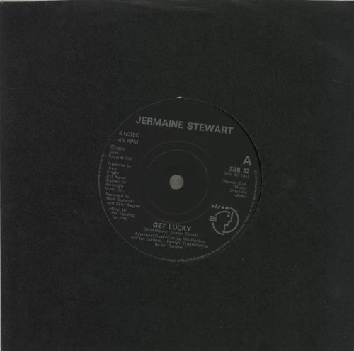 "Jermaine Stewart Get Lucky 7"" vinyl single (7 inch record) UK JMA07GE684722"