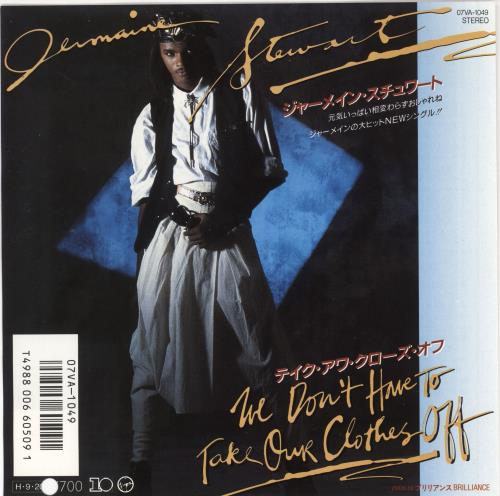 """Jermaine Stewart We Don't Have To Take Our Clothes Off + Insert 7"""" vinyl single (7 inch record) Japanese JMA07WE720251"""